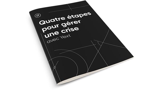 Première de couverture du livre blanc Quatre Etapes pour gérer une crise