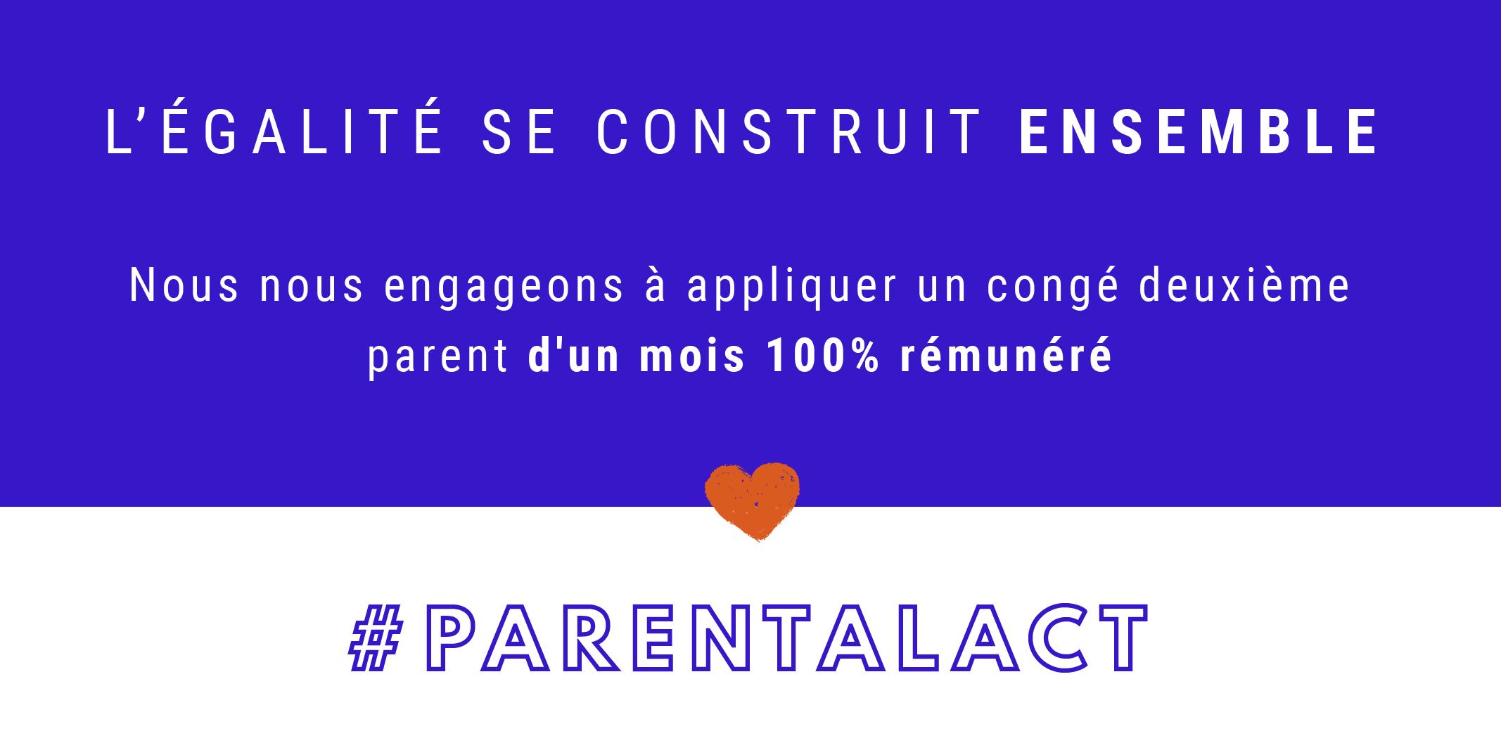 bannière du Parental Act pour l'égalité femmes-hommes